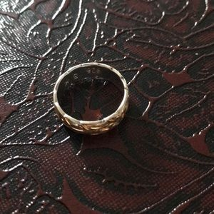 Sterling silver 925 gold plated Hawaiian ring sz 5